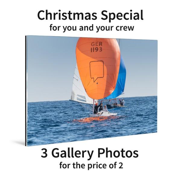 3 Gallery-Fotos hinter Acrylglas – das Crew-Set